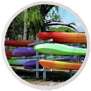 You Canoe I Can Too Round Beach Towel