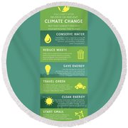 You Can't Stop Climate Change Round Beach Towel