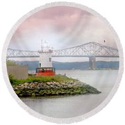 You Know How To Love Me Round Beach Towel