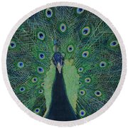 You Lookin' At Me? Round Beach Towel