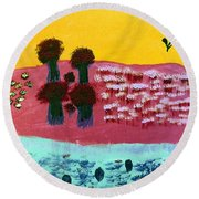 You River Round Beach Towel