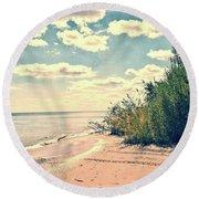 You Walked Away - Wisconsin Round Beach Towel
