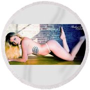 You Want Me To Do What? Round Beach Towel