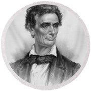 Young Abe Lincoln Round Beach Towel