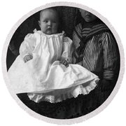 Young Ernest Lawrence And Brother, 1904 Round Beach Towel