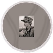 Young German Round Beach Towel