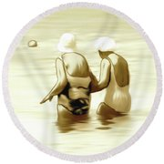 Young Minds Round Beach Towel