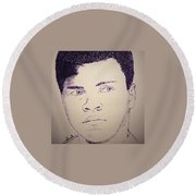Young Muhammad Ali Round Beach Towel