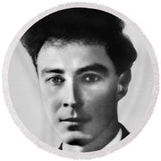 Young Robert Oppenheimer Round Beach Towel