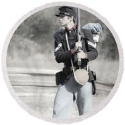 Young Soldier II Round Beach Towel