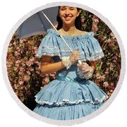 Young Southern Belle Round Beach Towel
