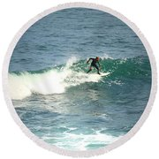 Young Surfers Four Round Beach Towel