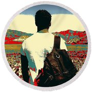 Young Traveller Round Beach Towel