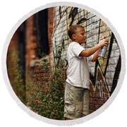 Young Vandal Round Beach Towel