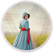 Young Victorian Woman On A Country Path Round Beach Towel