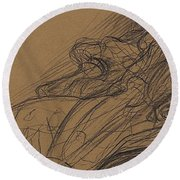 Young Woman In An Armchair Round Beach Towel