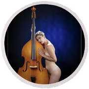 Young Woman Nude 1729.195 Round Beach Towel