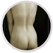 Young Woman Nude 1729.557 Round Beach Towel