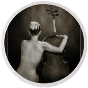 Young Woman Nude 1729.565 Round Beach Towel