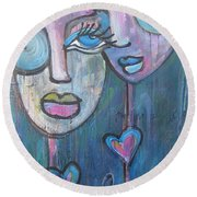 Your Haunted Heart And Me Round Beach Towel