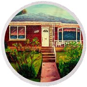 Your Home Commission Me Round Beach Towel