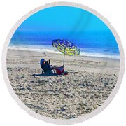 Your Own Private Beach Round Beach Towel