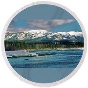 Yukon River Round Beach Towel