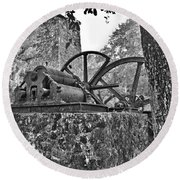 Yulee Sugar Mill Ruins Hrd Round Beach Towel