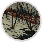 Ywoigne Snow Round Beach Towel