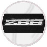 Z28 Logo Noir Round Beach Towel