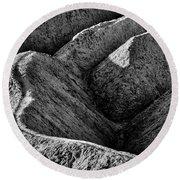 Zabriskie Point Badlands - Death Valley Round Beach Towel