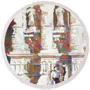 Zacatecas Cathedral Round Beach Towel