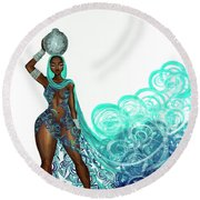 Zahirah Round Beach Towel