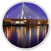 Zakim At Twilight II Round Beach Towel
