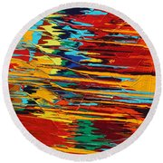 Zap Round Beach Towel