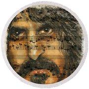 Zappa The Walz  Round Beach Towel