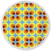 Zappwaits Retro 7 Round Beach Towel