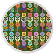 Zappwaits Flower Round Beach Towel