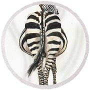 Zebra Back Round Beach Towel