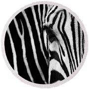 Eye Of The Zebra Round Beach Towel