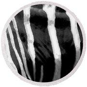 Zebra Lines Round Beach Towel