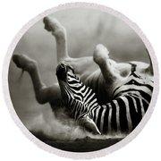 Zebra Rolling Round Beach Towel