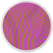 Zebra Shmebra Round Beach Towel