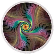 Zebra Spiral Affect Round Beach Towel