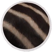 Zebra Stripes Round Beach Towel