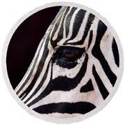 Zebras Eye Round Beach Towel