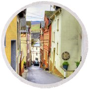 Zell Mosel Village Germany Round Beach Towel