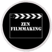 Zen Filmmaking Round Beach Towel