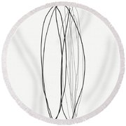 Zen Modern Abstract 4- Art By Linda Woods Round Beach Towel by Linda Woods