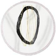 Zen Modern Art 6- Art By Linda Woods Round Beach Towel